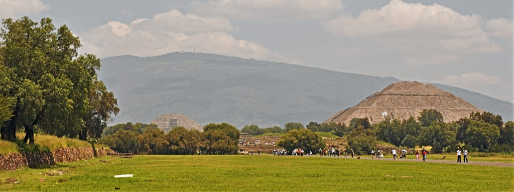 Teotihuacan - the Pyramid of the Moon seen from the south end of the Avenue of the Dead