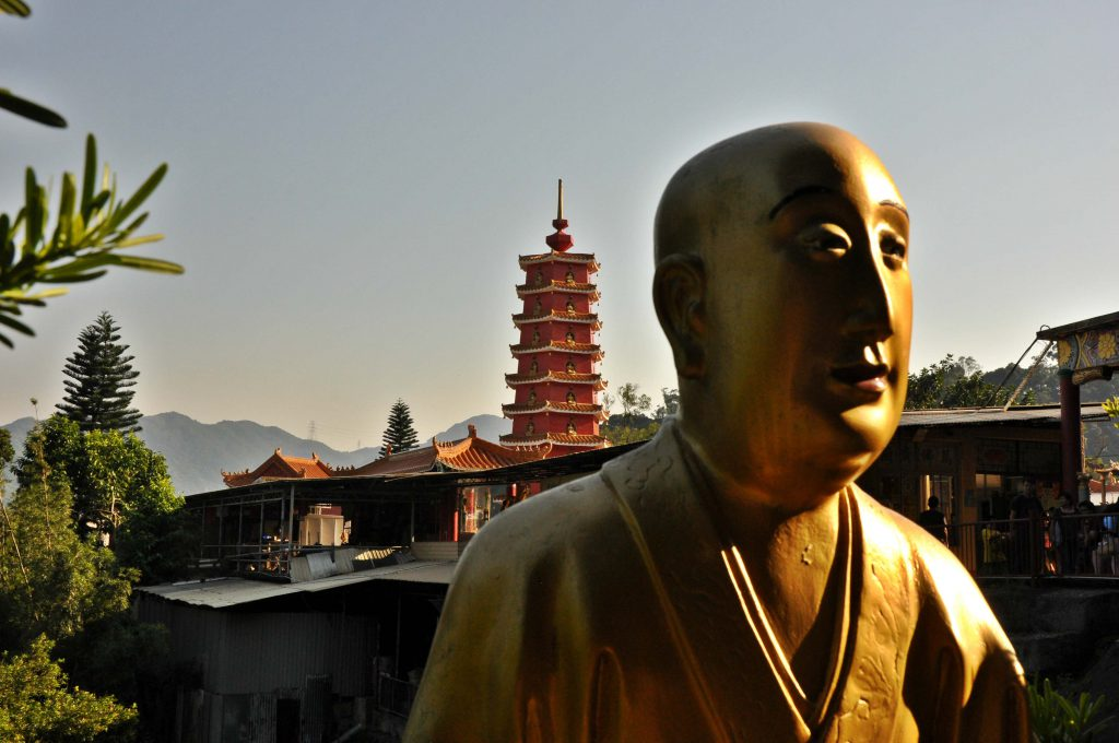 New Terretories in Hong Kong host the 10000 Buddhas Monastery.