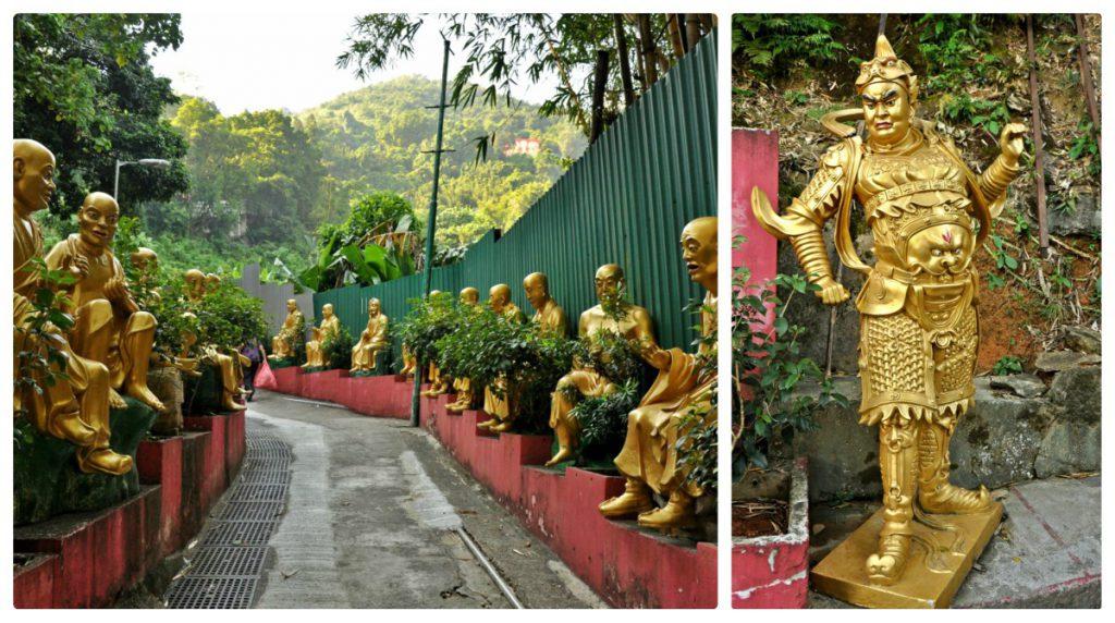 The walkway up to the 10000 Buddhas Monastery