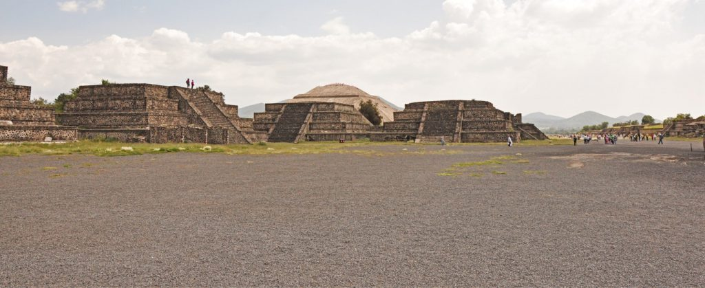 The Plaza de la Luna in front Pyramid of the Moon.