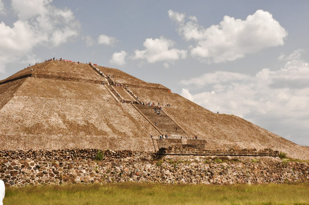 The Pyramid of the Sun in the archaeological site