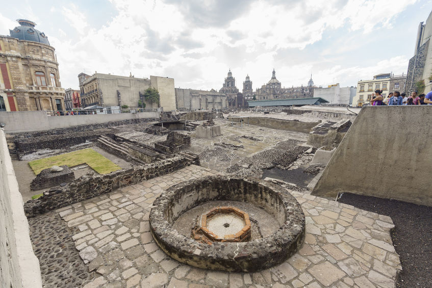 The Templo Mayor in Mexico City, the 2nd of the Best historic place sin Mexico City