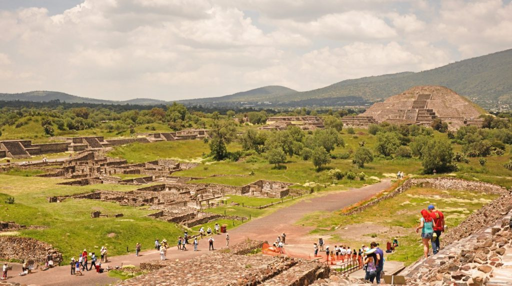 The archaeological site of Teotihuacan in Mexico City.