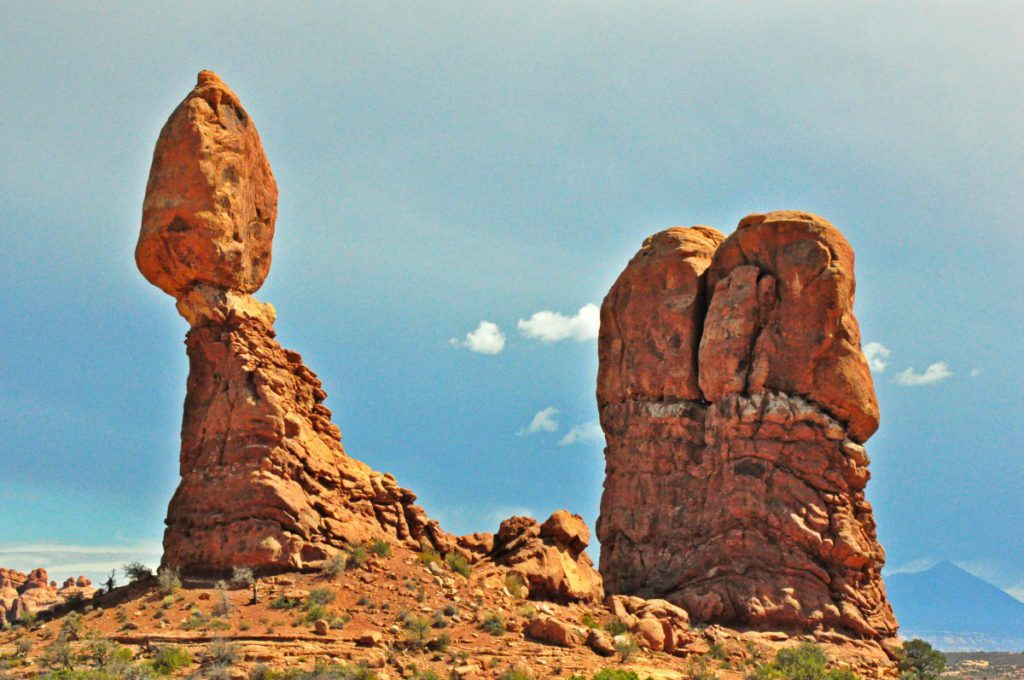 The Balanced Rock, an iconic rock formation.
