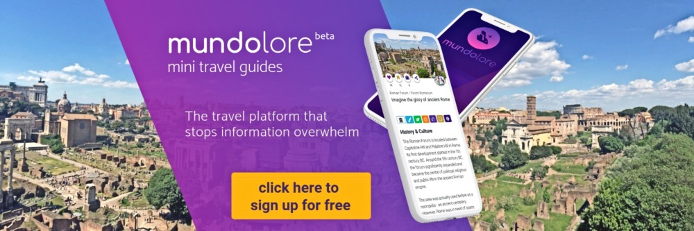 mundolore mini travel guides, your sightseeing planning tool