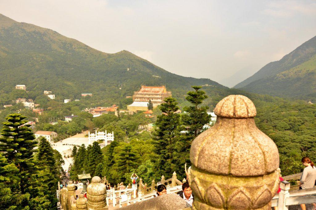 Stunning view from the Tian Tan Buddha on Lantau.