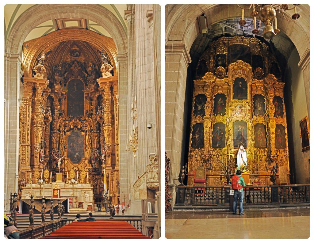 One of the best historic places in Mexico City - the cathedral