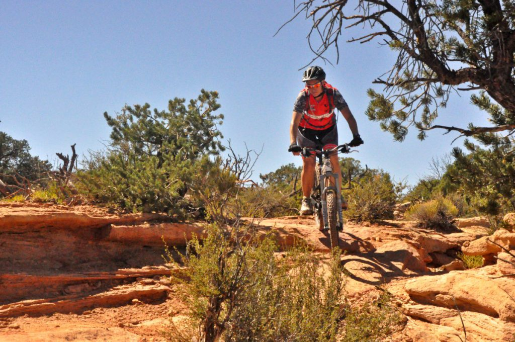 The Dead Horse point State Park is a great place for mountainbiking