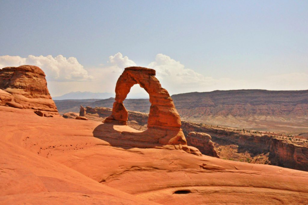 The best known arch in Arches National Park, the delicate arch