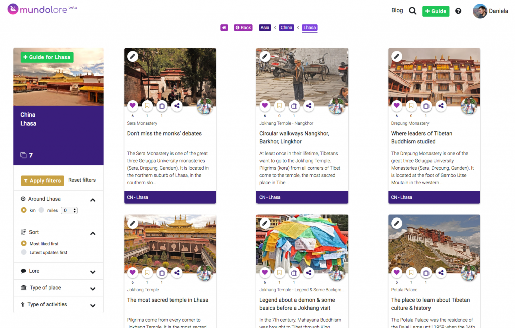 mundolore mini travel guides about Lhasa. Trip planning made easy.