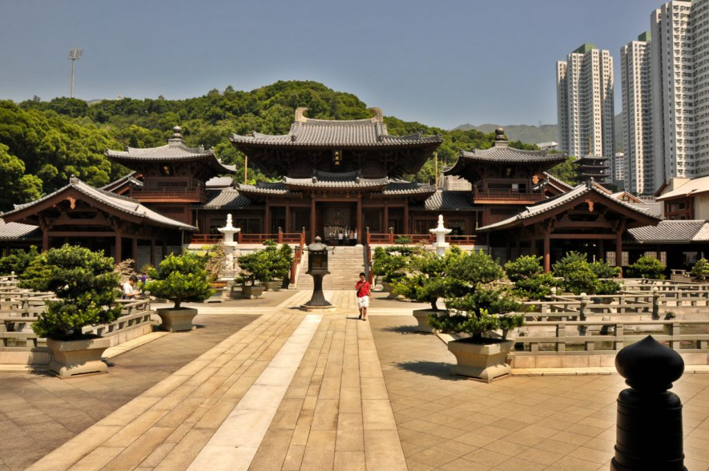 The Chi Lin Nunnery in Hong Kong