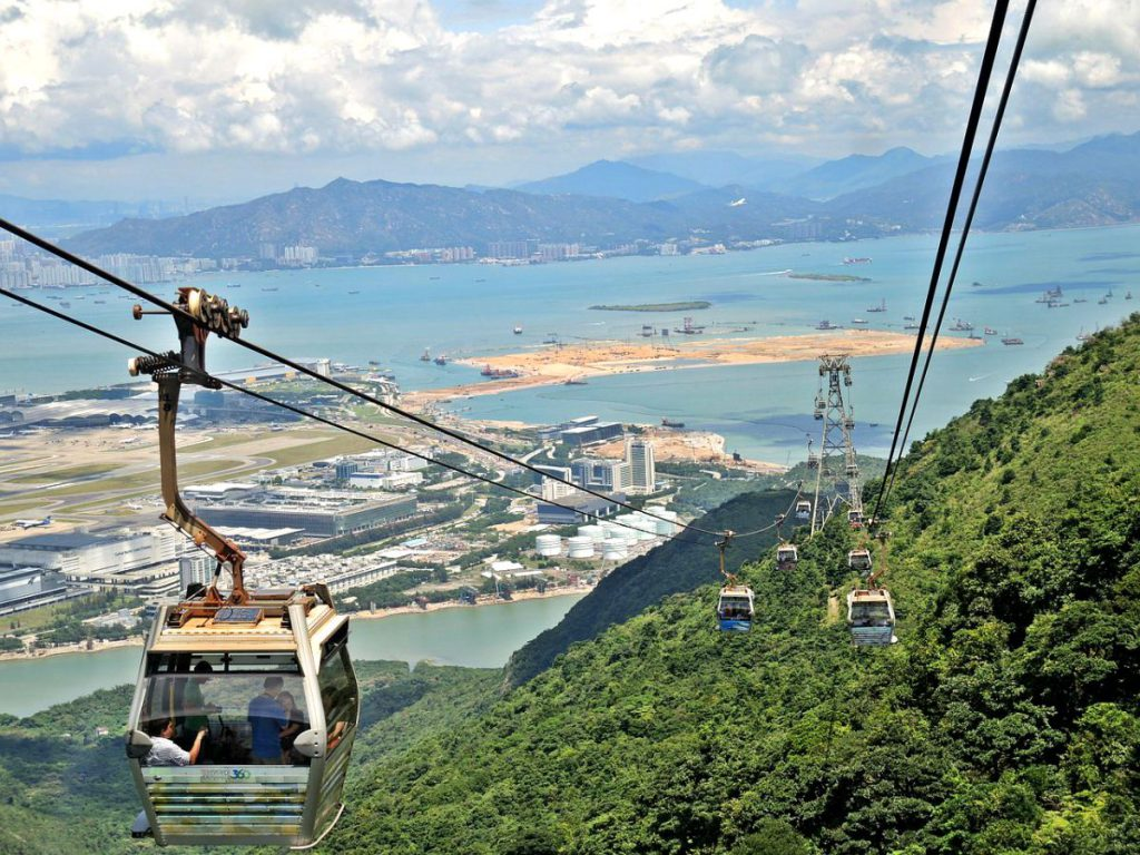 Ngong Ping 360 and Village in Hong Kong Lantau Island
