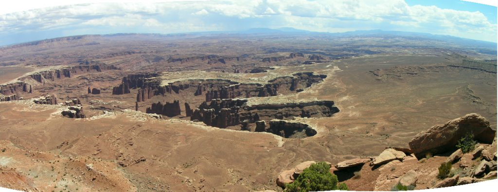 A lovely overlook in the Canyonlands National Park