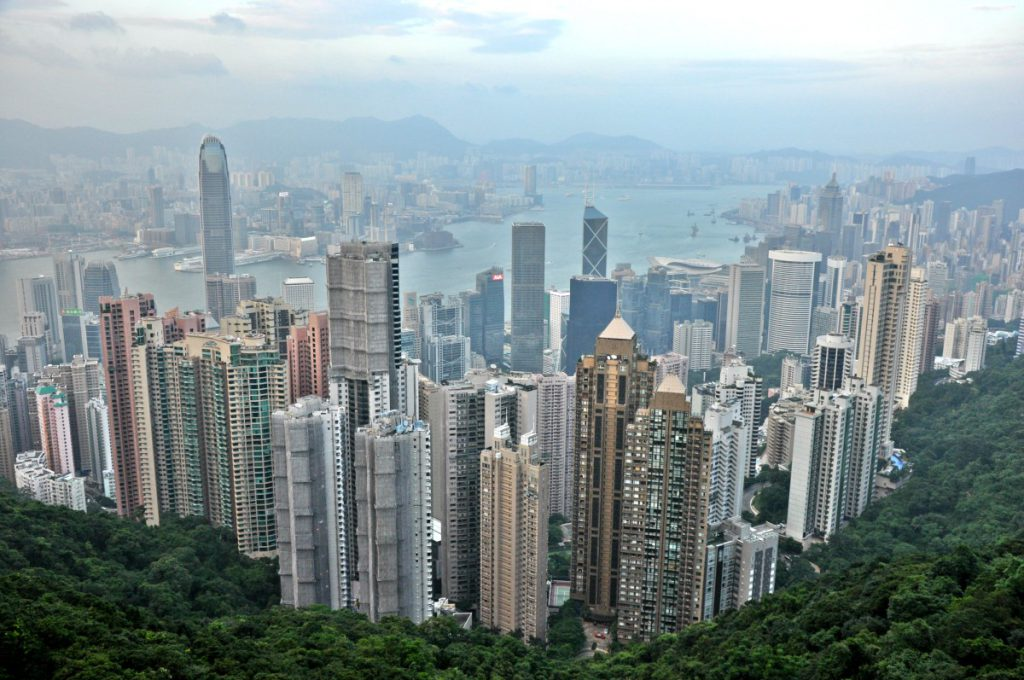 A view form the Victoria Peak in Hong Kong
