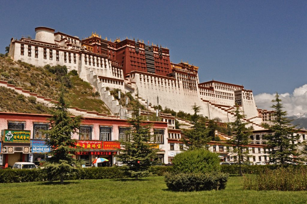 The Potala Palace in Lhasa, a World Heritage Site, in the cradle of Tibetan Buddhism.