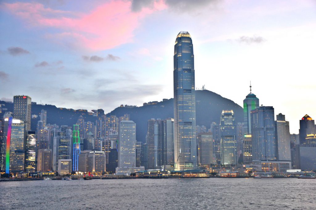 The Hong Kong Skyline seen from Kowloon.