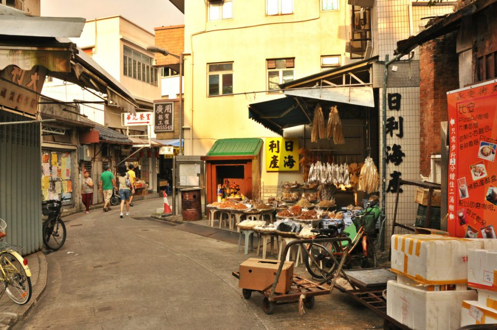 Tai O Fishing Village on Lantau Island