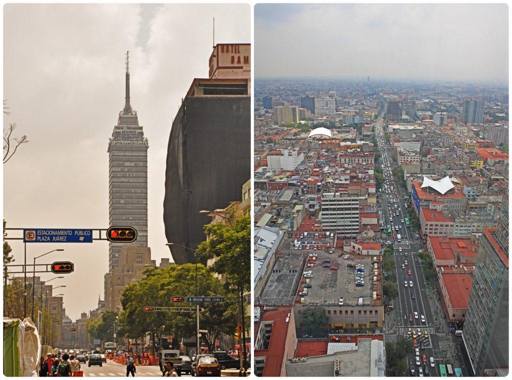 The Torre Latinoamericana gives a view on the Palacio de Bellas Artes.
