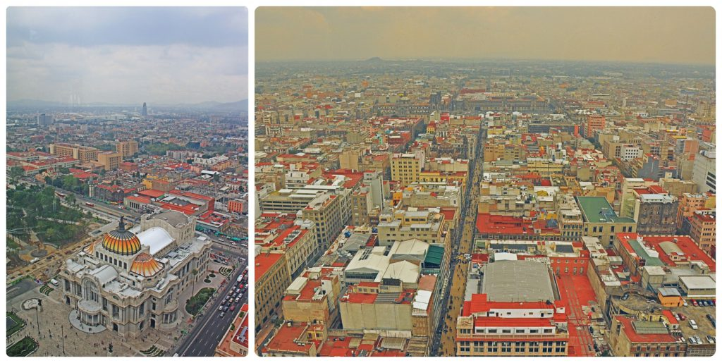 View on the Palacio de Bellas Artes from the Torre Latinoamericana.