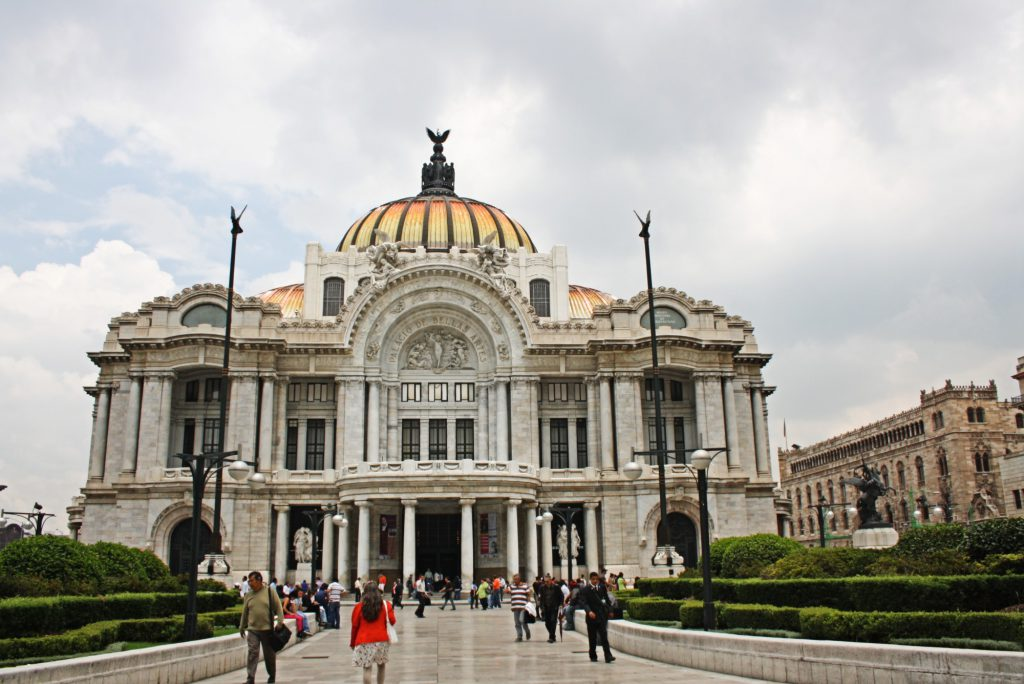 The Palacio de Bellas Artes in Mexico City.