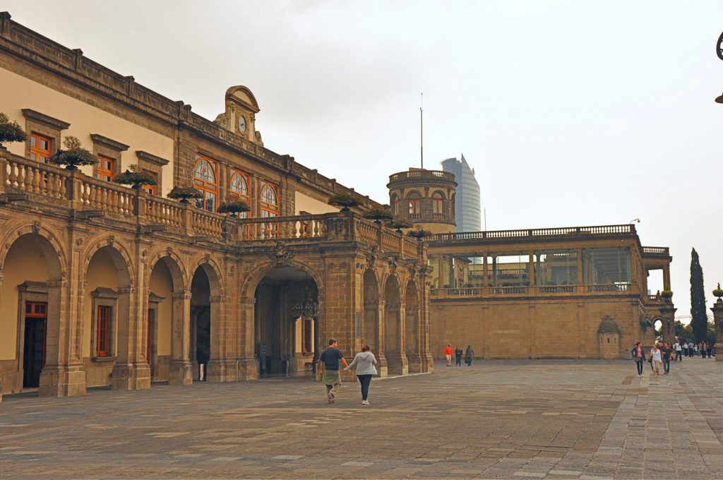 The Chapultepec Castle is a great lace to overlook Mexico City.