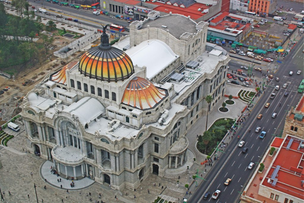 The Palacio de Bellas Artes seen from the Torre Latinoamericana.