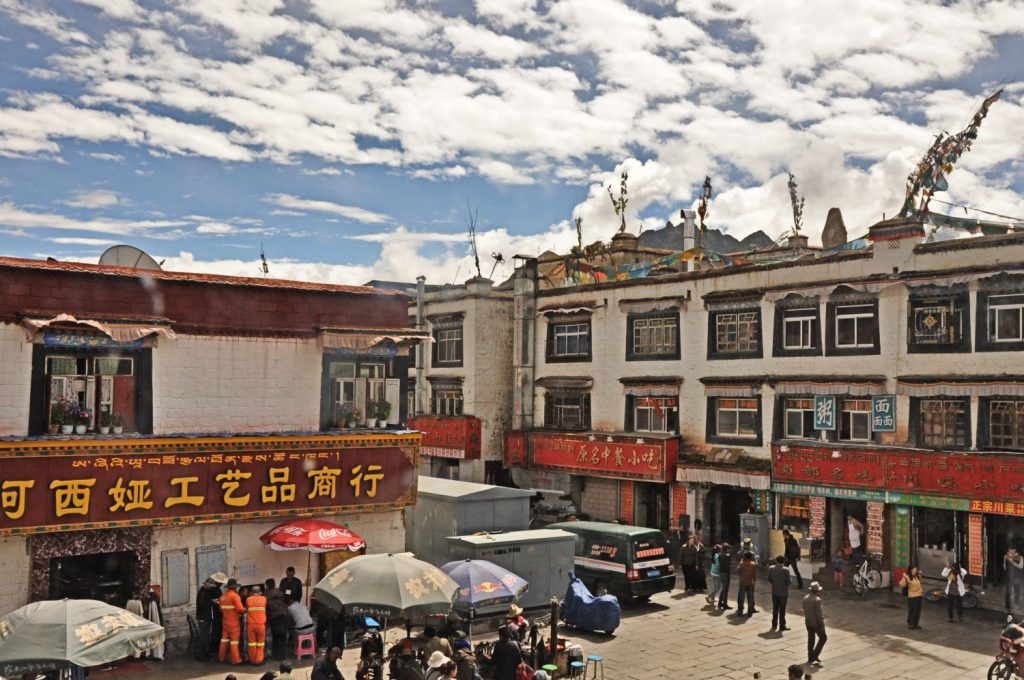 The old town of Lhasa, one of the best places to see in Lhasa