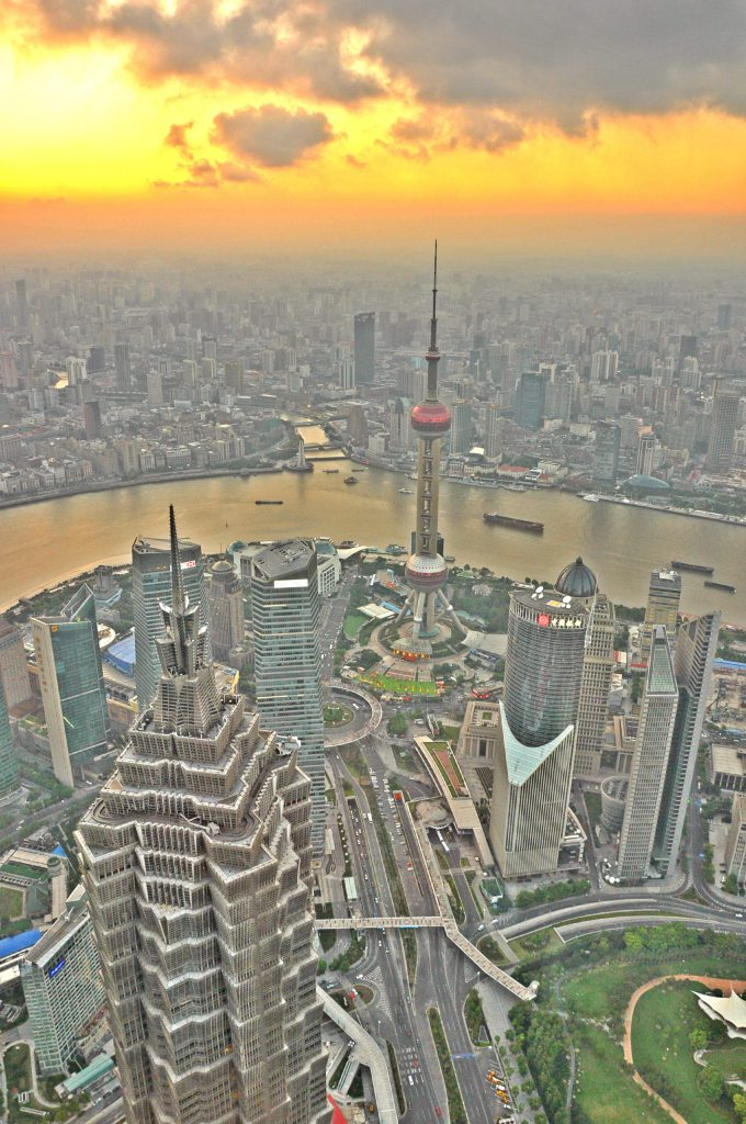 A fantastic view from the Shanghai World Financial Center