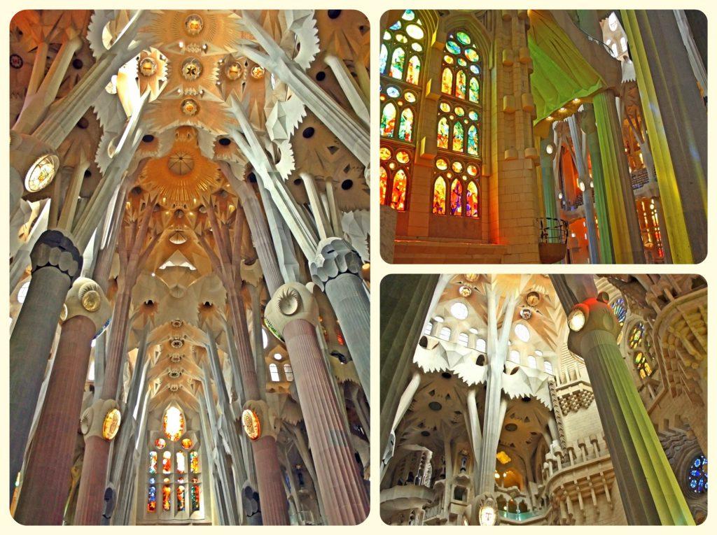 The inside of Gaudí La Sagrada Família - just amazing