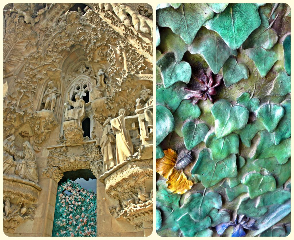 The facade of the Sagrada Família is jaw-dropping.