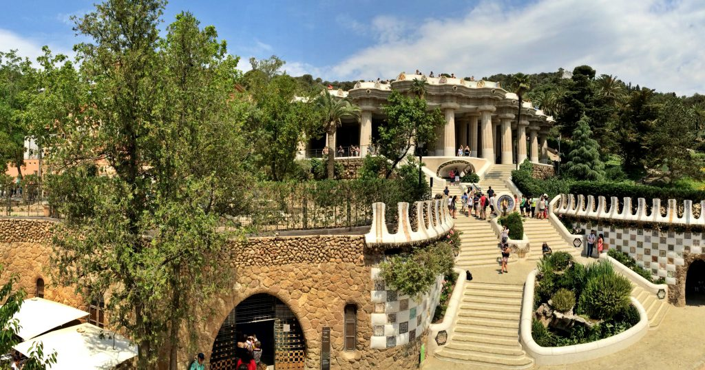The Park Güell, another masterpiece from Gaudí.