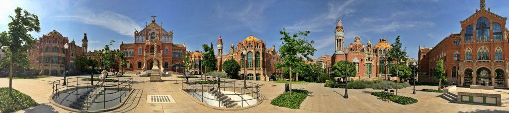 The hospital de Sant Pau is a hidden gem in Barcelona.