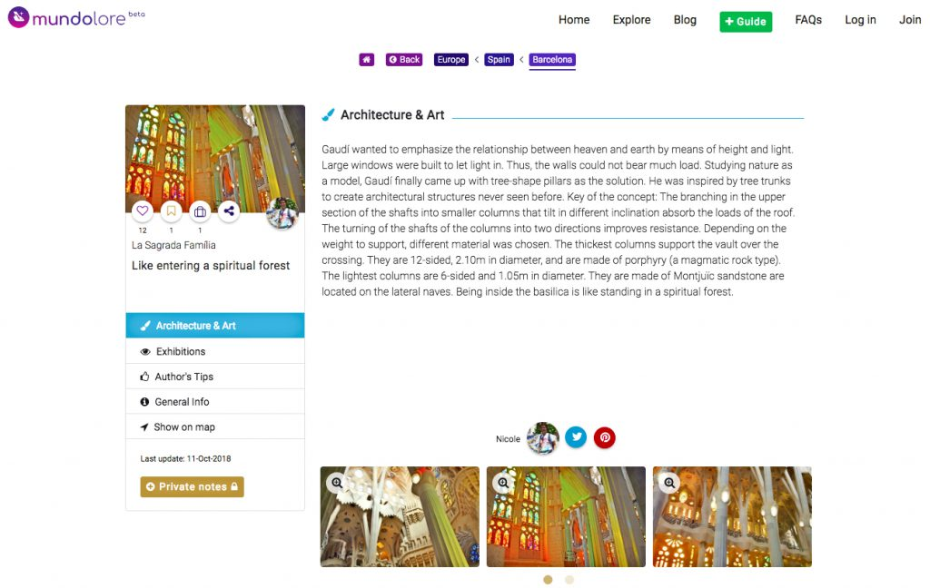 La Sagrada Família on mundolore. mundolore also offers otherBarcelona mini travel guides.