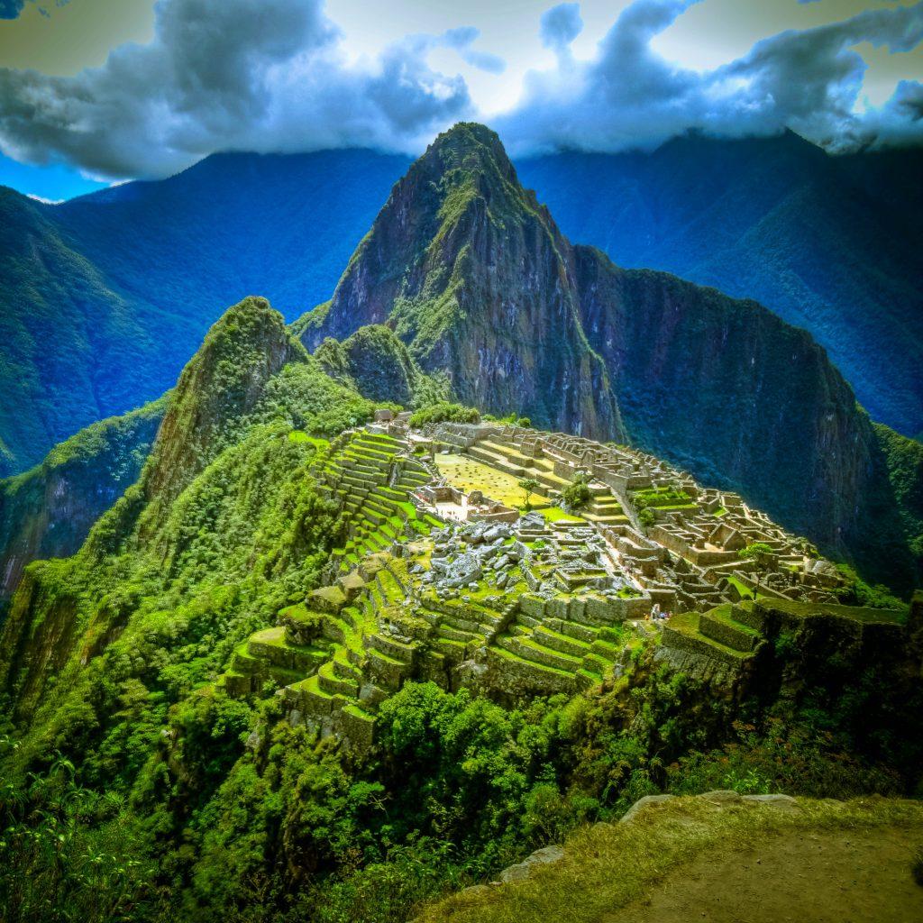 Machu Pichuu in Peru is an amazing Inca Landmark.