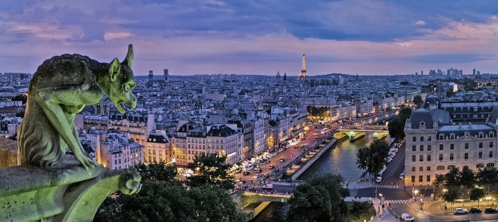 Paris, the city of love. A top place to visit in Europe.