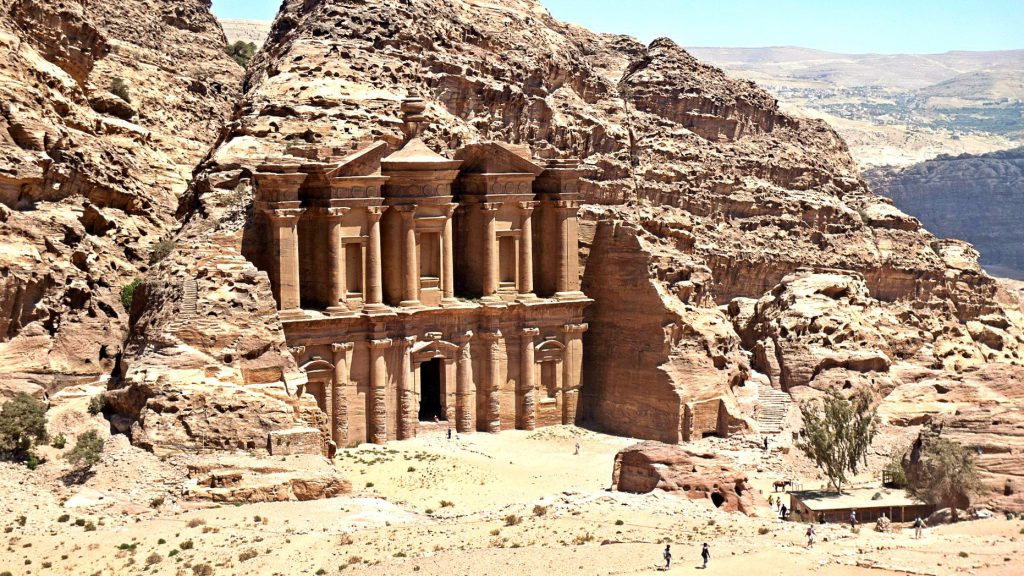 Petra, also known as the lost city is located in Jordan.