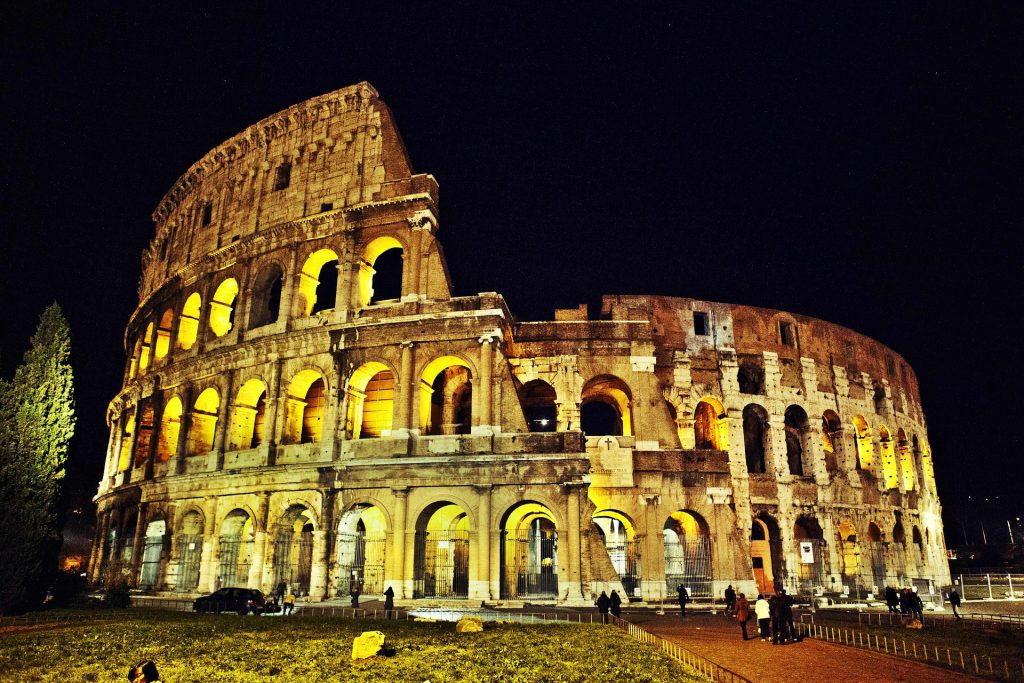 Colosseum in Rome is listed as a New World Wonder.